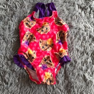 5/$25 CHILDREN'S PLACE kitten bathing suit /swim